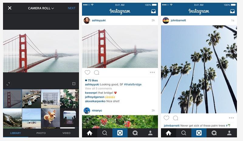 Прямоугольные фото в Instagram