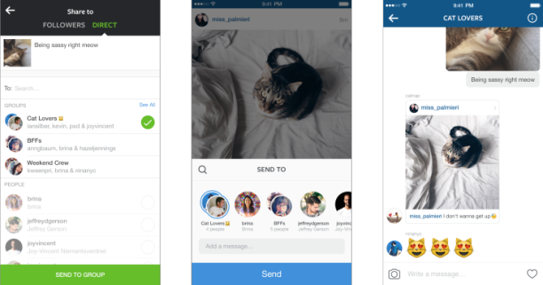 Личные сообщения в Instagram